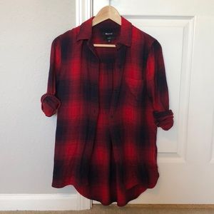 2017 Madewell Classic Fit Flannel size XS